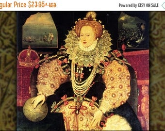 40% OFF SALE Poster, Many Sizes Available; Queen Elizabeth I Armada Portrait