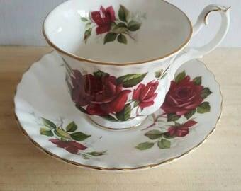 Royal Albert Rose Cup and Saucer