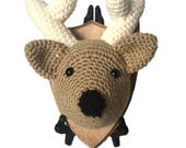 Crocheted Deer Mount