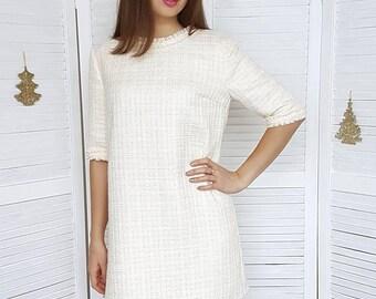 Tweed dress chanel style