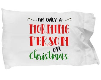 Funny Christmas Pillowcase, Cute Holiday Pillowcase, Christmas Bedding, Christmas Decor