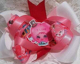 Valentine's Day Shopkins Bow
