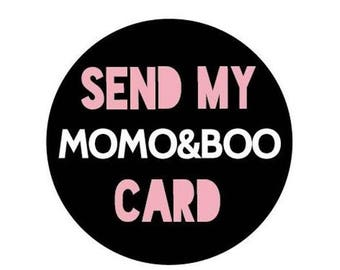 Momo&Boo Inner Message in any card and sent direct to recipient - send my card service - typography - message inside card