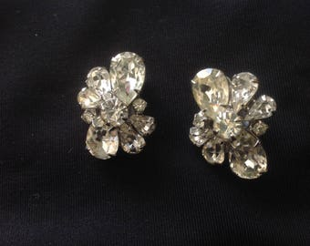 Weiss signed Rhinestone Earrings