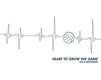 Volleyball Poster - Heart for the Game
