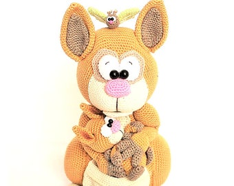 kangaroos, crochet pattern by mala designs