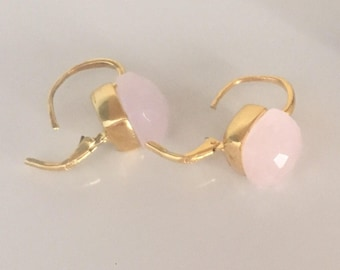 Two pairs of silver earrings 925 plated in yellow gold