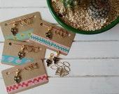 Progress keeper, charm, Stitch marker black cat, travelers notebook
