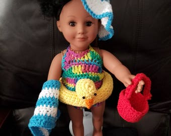 "Pool Time-Bathing And Accessory Set (Fits 18""Dolls)"