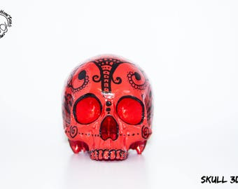 Home'Skull, Skull 3D red & Black graphic N1