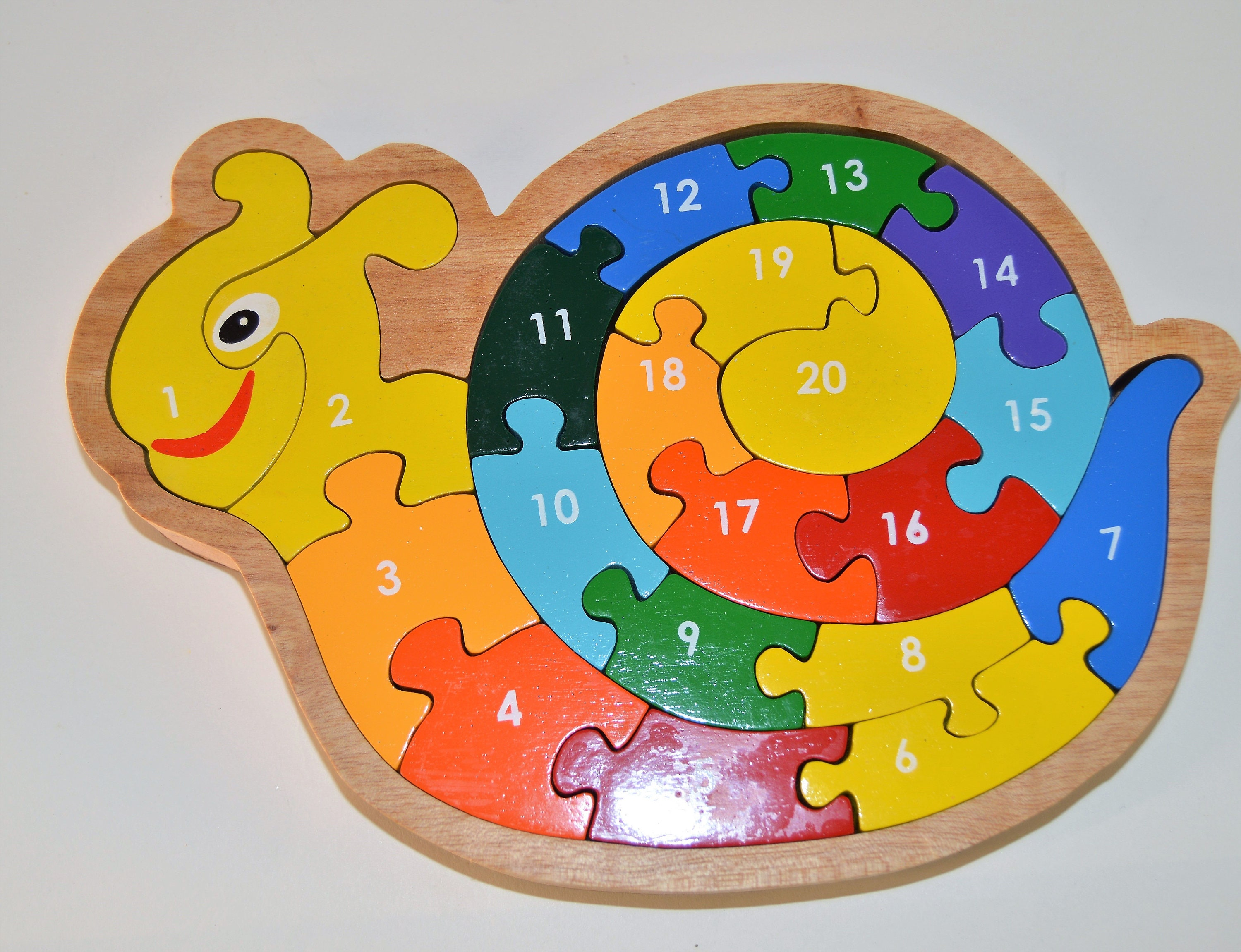 Snail toy Wooden Puzzle with numbers toddler ts toys for