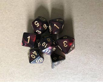 set of 7 DND Dice set with box-Polyhedral Dice Set,GLOW dice for Dungeons & Dragons CRAPS