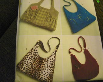Sewing Pattern - Butterick B5109 - Four Styles Of Bags, Purses, Totes