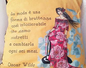 Pillow case Oscar WIlde (fashion)