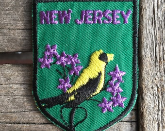 New Jersey Vintage Souvenir Travel Patch from Baxter Lane