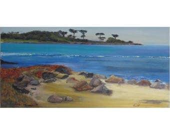 View from Asilomar, Original Oil Painting, Museum Wrap