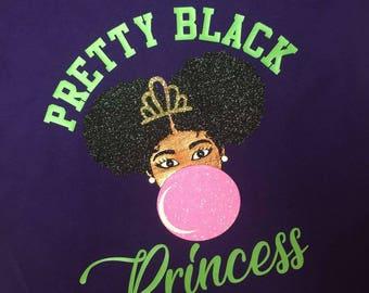 Pretty Black Princess Pretty Mixed Princess t shirt