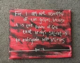 Romans 1:16 8x10 Canvas