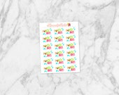 2 DOLLAR TUEADAY! Pool Day! Mini-Sheet | Planner Deco, Scrapbooking Stickers | Great for Erin Condren Life Planners, Happy Planners