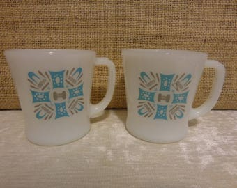 Vintage Blue Heaven Coffee Cups - two