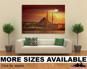 Wall Art Giclee Canvas Picture Print Gallery Wrap Ready To Hang New Mosque In Sunset