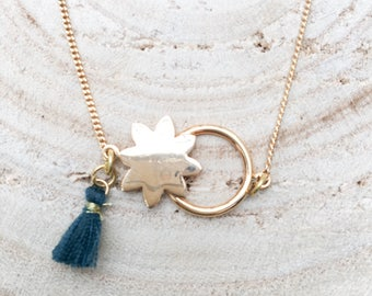 Sun tassel necklace