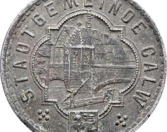 1918 10 Pfennig Germany Calw Notgeld Stadtgemeinde Coin