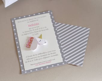 Do share baptism - Unicorn origami birth - custom handmade high range