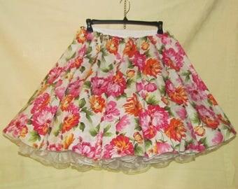 Summer flowers - square dance skirt