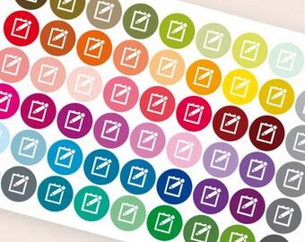 Notebook stickers, student sticker, college sticker, planner stickers, back to school test exam homework eclp filofax happy planner kikkik