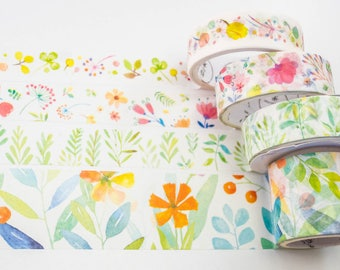 Masking tape / delicate flowers / 3 x 15mm x 3m / 30mm x 3m