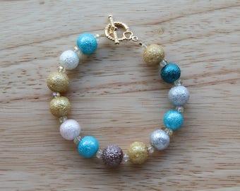 Beaded Bracelet / Glass Pearls / Handmade Jewelry
