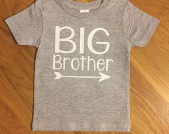 Big brother shirt, big siblings shirt, arrow shirt, big brother baseball tee, clothing for boys, announcement shirt, big bro