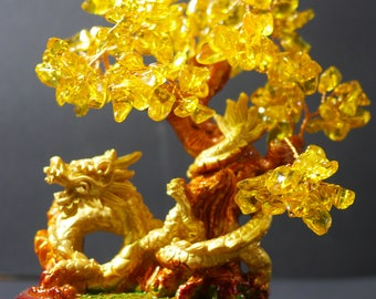 Money Tree | Feng Shui Tree | Lucky Tree | Fortune Tree | Crystal Tree | Dragon Money Tree |  Yellow Bonsai Tree