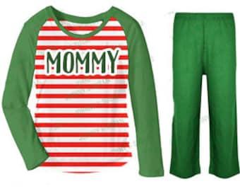 Girls Shirt/pant set - Striped PJs