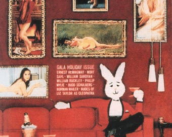 MATURE - Playboy Trading Card January Edt. 1963 - Cover - Rabbit - Card #28