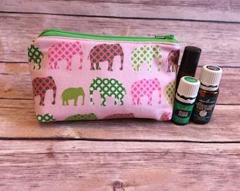 essential oil bag, oil bag, essential oil case, essential oil storage, essential oil travel bag, oil holder, zipper bag, elephant bag