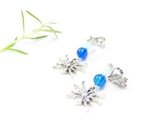 Clip earrings ~ Blue spider ~