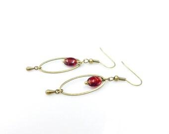 Oval earrings ~ thousand & one nights.