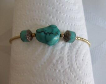 Turquoise shape memory bracelet