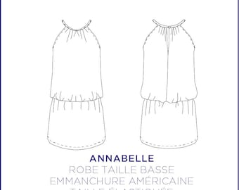 Pattern - Dress Annabelle, 34 to 46 full size pattern