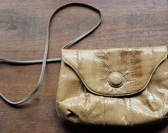Vintage PALIZZIO Snakeskin Cross-body, Shoulder Handbag or Clutch