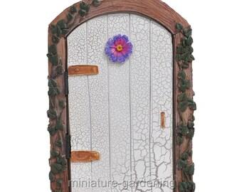 Ivy Fairy Door, Color Options: Cream for Miniature Garden, Fairy Garden