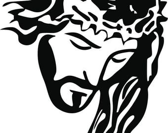 Jesus With Thorns Decal