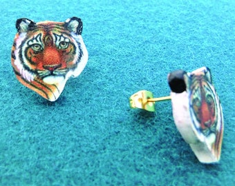 Tiger Post Earrings Small
