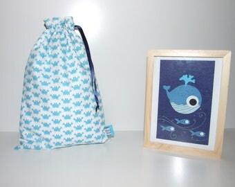 Waterproof pouch, mini bag pool crabs printed swimsuit