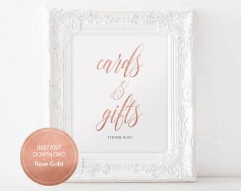 Wedding Gifts & cards Sign 8x10 Rose Gold Calligraphy Sign DIY Wedding Ceremony Sign Printable Image Digital INSTANT DOWNLOAD #DP140_10
