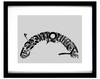 Calligraphy Archival Print - TRANQUILITY