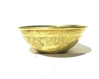 Brass Bowl, Hammered Brass Bowl, Brass Bowl, Small Brass Couldron