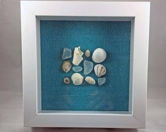Sea Glass Shadow Box